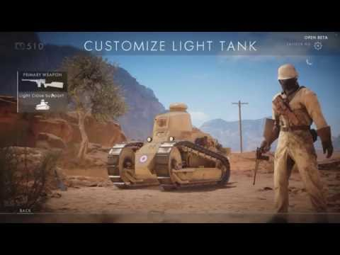 Light Tank OP-Battlefield1 beta