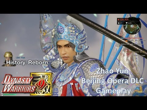 Dynasty Warriors 9 - Zhao Yun Beijing Opera DLC Costume Gameplay (Hard Difficulty)