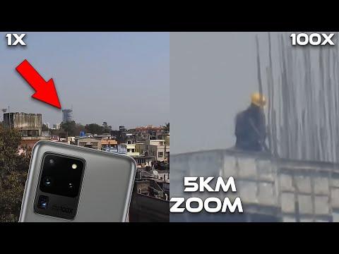 Samsung Galaxy S20 Ultra 100X Zoom is CRAZY - 100X LIVE ZOOM TEST