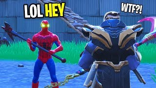 I GOT THE SPIDERMAN SKIN IN FORTNITE! (Then I FOUND THANOS!)