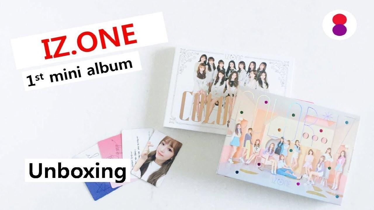 Unboxing 아이즈원 IZ ONE 1st mini album Color IZ 언박싱 컬러라이즈
