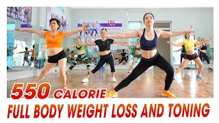 550 Calorie Aerobic Workout: Full Body Weight Loss And Toning | EMMA Fitness
