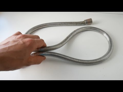 Do not throw away the corrugated shower hose Simple DIY