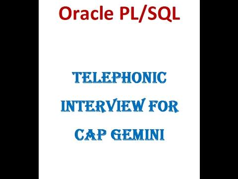 Oracle PLSQL Telephonic Interview for Cap Gemini