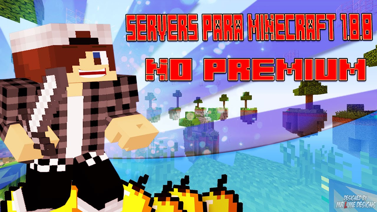 MINECRAFT MEJORES SERVERS SKY WARS NO PREMIUM 1.8.8 - YouTube