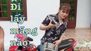 DTVN - Cùng 2 thiếu nữ xinh đẹp Dao đi LẤY MĂNG và xem ao cá to của nhà Vân