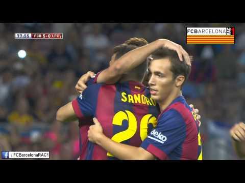 T14/15 Trofeu Joan Gamper: FC Barcelona 6-0 Club León FC (RAC1)