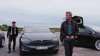a-ha  - Summer Solstice 2017 - Band Arrival in Tesla Model X