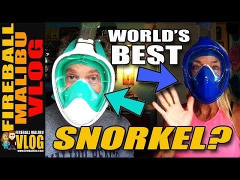 EASY SNORKEL WORLD'S BEST SNORKEL? - FIREBALL MALIBU VLOG 710