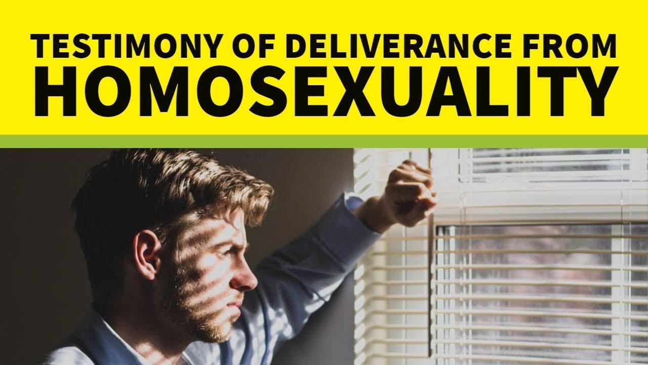 Homosexuality deliverance testimony