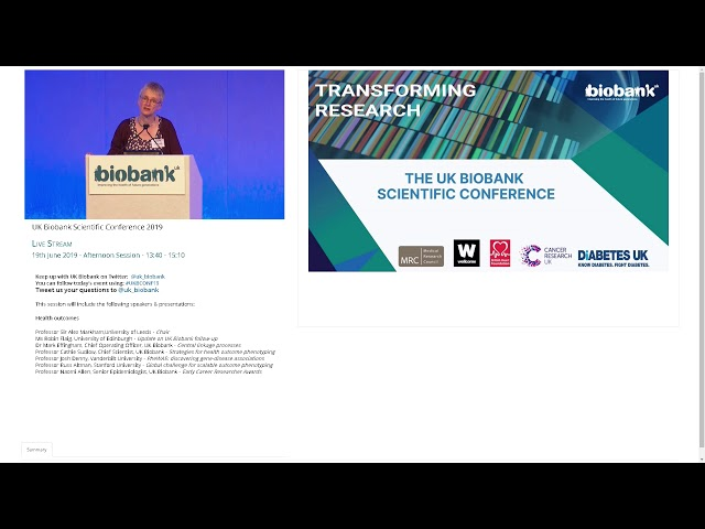 Professor Cathie Sudlow - Global Challenge for scalable outcome phenotyping
