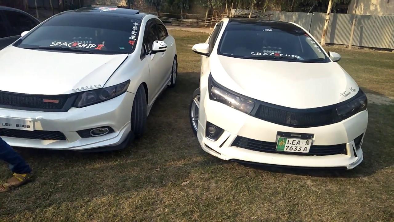 Toyota Corolla Gli VS Honda Civic Modification Comparison
