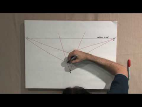 Free Art Lesson - John Hitselberger - Three Point Perspective