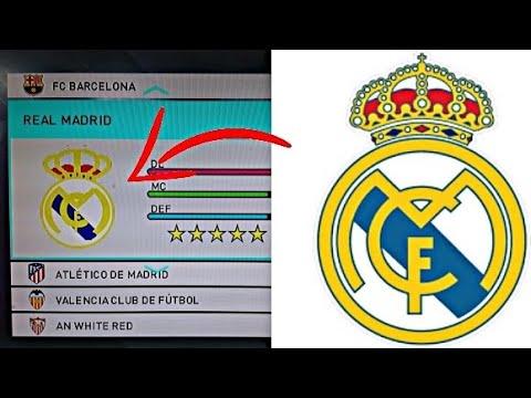 Como Hacer El Escudo Del Real Madrid En Pes Facil Y Rapido Youtube