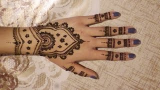 Quick & Easy, Flower Petal Inspired Henna Design