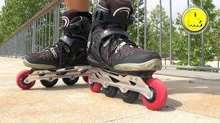 Aprender a patinar. Freno en T