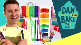 Dan Bakes a MELTING Crayon Cake
