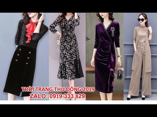 [Thời Trang Nữ Hoàng] Váy đầm tuổi trung niên cao cấp sang trọng 2019 thời trang Hàng Mới Toanh cực hot U40, U50 tphcm