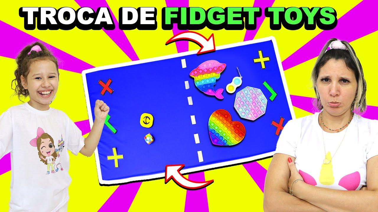 TROCA DE FIDGET TOYS | Trocando Fidget Toys | Valentina Pontes