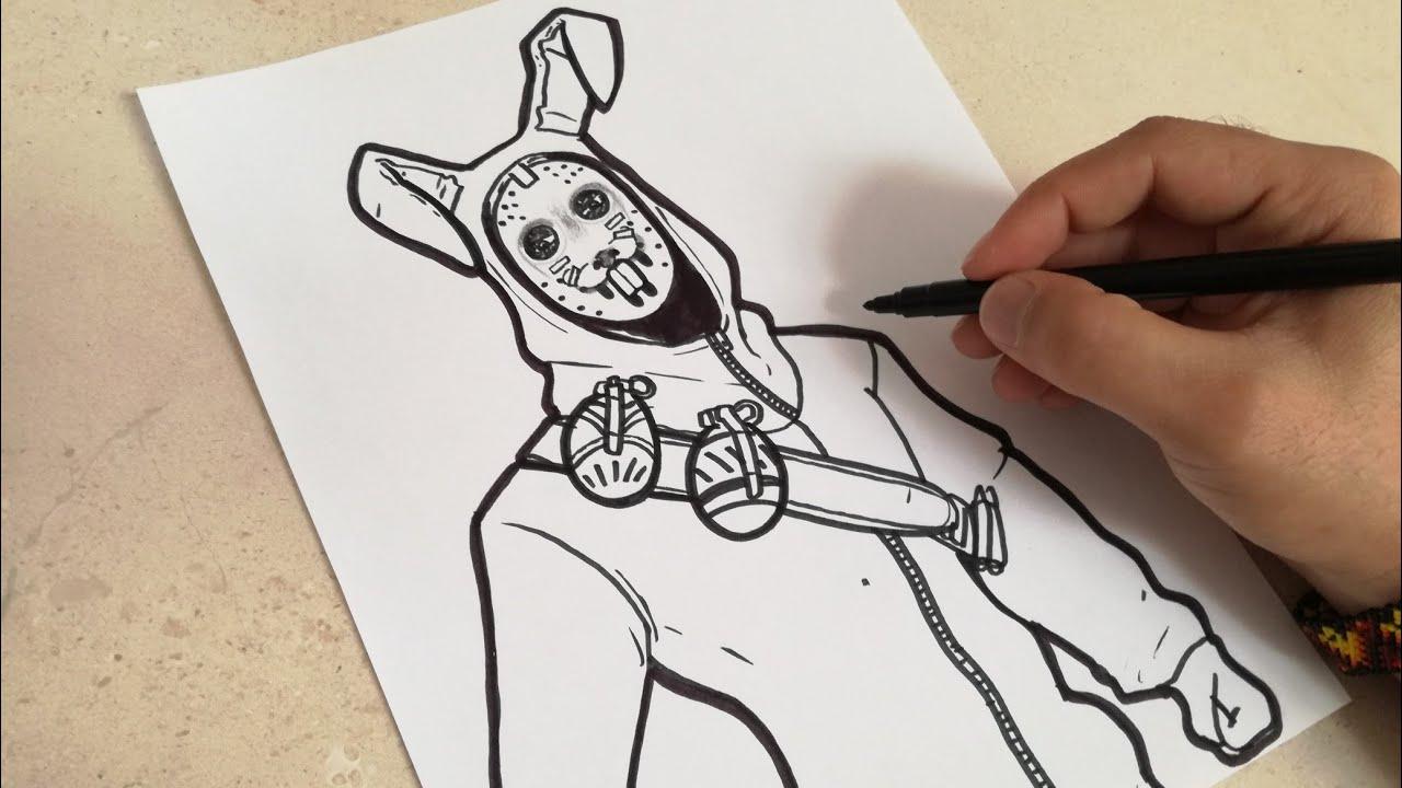 Como Dibujar Al Conejo Saqueador De Fortnite How To Draw Rabbit Skin Fortnite
