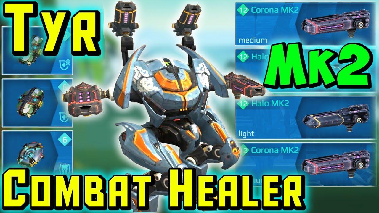 New Combat Healer TYR Mk2 Maxed Gameplay - War Robots 5.0 WR