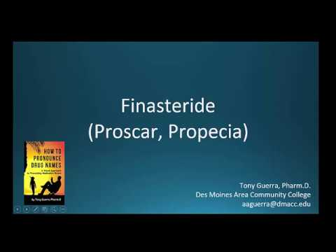 Cc How To Pronounce Finasteride Brand Name Proscar Propecia Backbuilding Youtube