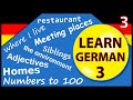 Learn German for beginners:  Lesson 3
