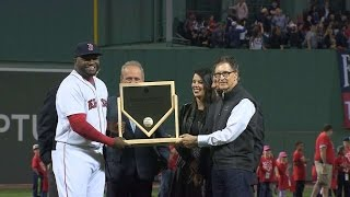TB@BOS: Red Sox honor Ortiz for 500th career home run