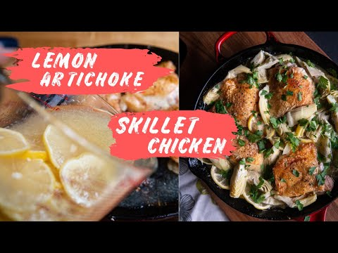 Lemon Artichoke Skillet Chicken Recipe