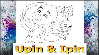 How to draw Upin Ipin Cartoon Drawing Kids Learn to Draw