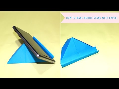how to make paper mobile stand