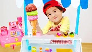 아이스크림 사세요~! 아이스크림 카트 장난감으로 가게놀이 계산놀이 해봤어요! Ice Cream Cart Toy