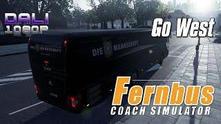 Fernbus Coach Simulator - Go West - 'Die Mannschaft' Bus PC Gameplay 1080p 60fps