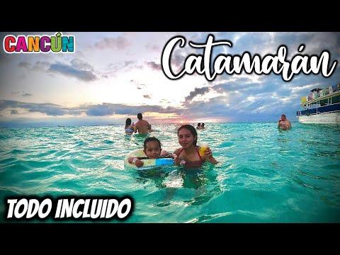 Isla Mujeres Tour CATAMARAN TODO INCLUIDO 🔴 BEBIDAS, comida, Snorkel, TRASLADO 🔥 Tour BARATO 😱