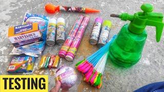 Testing new and different types of Holi stash 2020,Magic ballon,colour smoke,Water Gun,Ballon Filler
