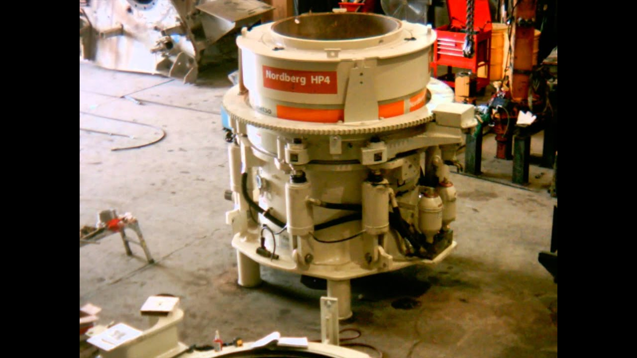 Metso HP4 Cone Crusher Rebuild Time Lapse