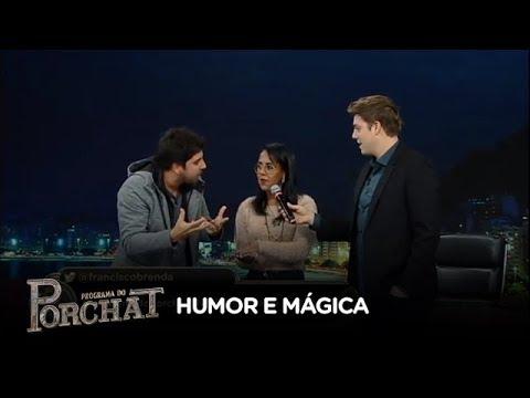 Gabriel Louchard desafia a plateia do Porchat a participar de mágica