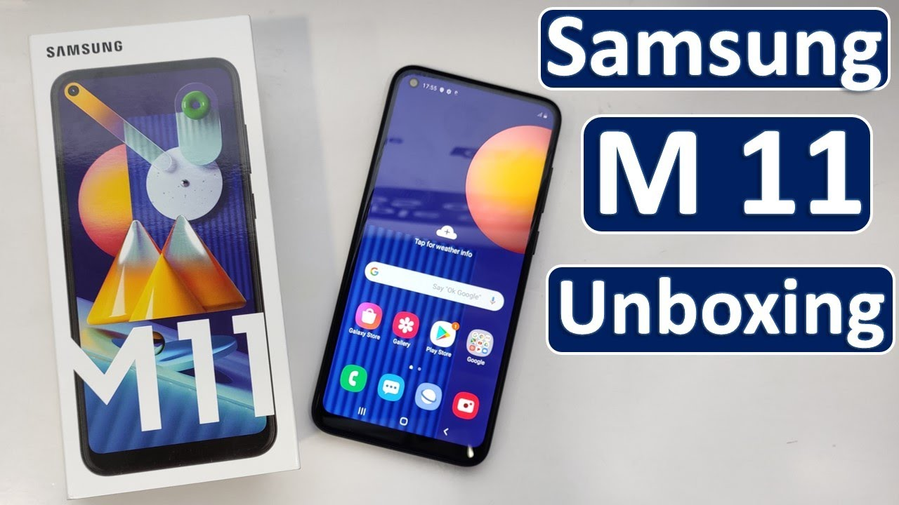Samsung Galaxy M11 Unboxing, Samsung M11 first look, cheapest punch hole display phone, Samsung M11