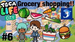 Toca life city | grocery shopping!! #6
