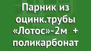 Парник из оцинк.трубы «Лотос»-2м (Воля) + поликарбонат обзор твп034 производитель Воля (Россия)