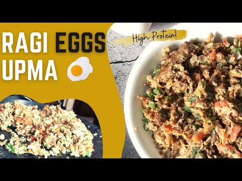 Ragi Egg Upma | How to Make Healthy Finger Millet Eggs for Breakfast | Quick Easy Recipe