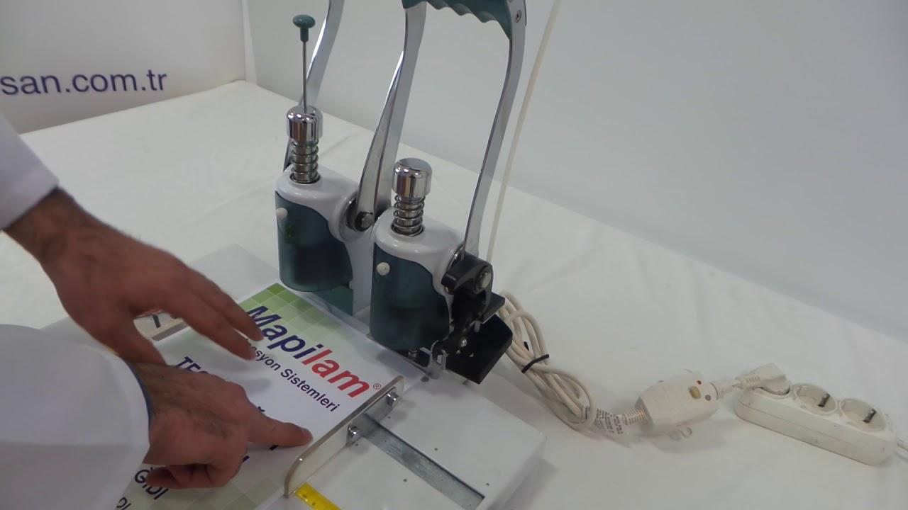 Mapi Drill A Bind Plastik Perçin Ciltleme Makinesi