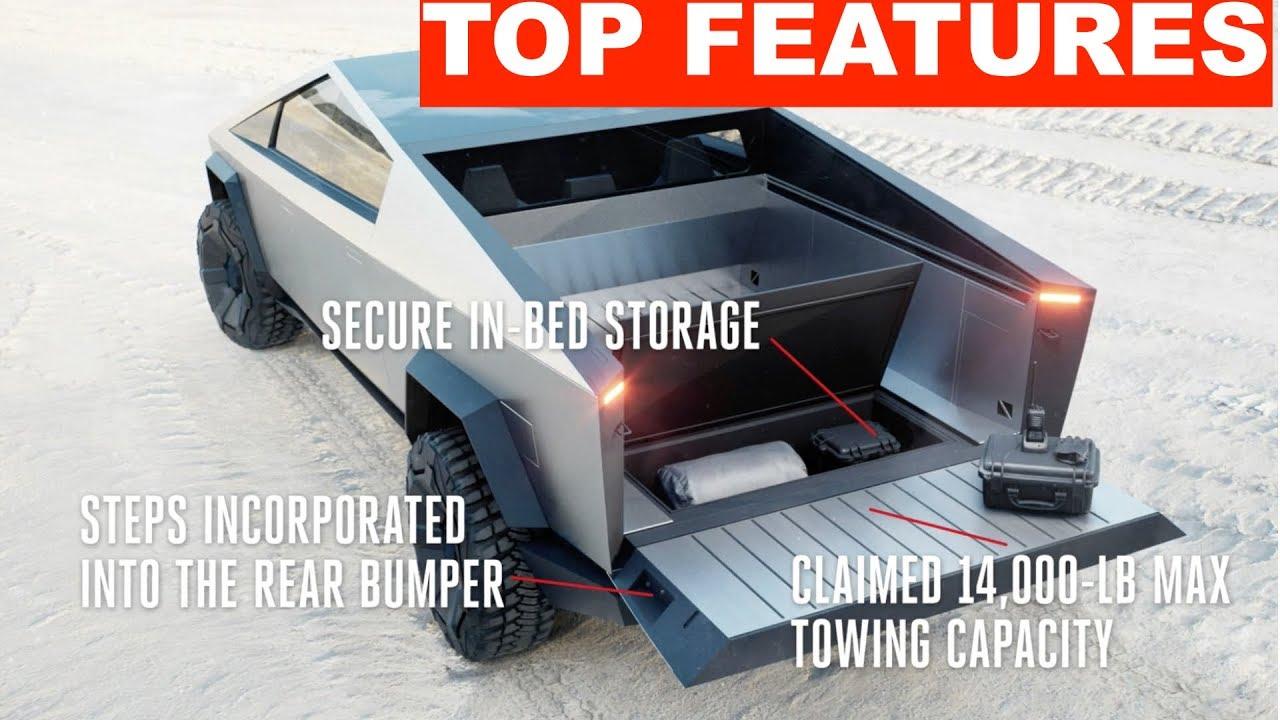 Tesla Cybertruck Top Features ! - YouTube
