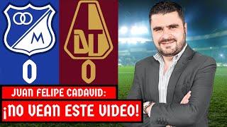 Millonarios 0-0 Tolima | Liga Dimayor 2021-I | Resumen de Goles y Táctica por Juan Felipe Cadavid