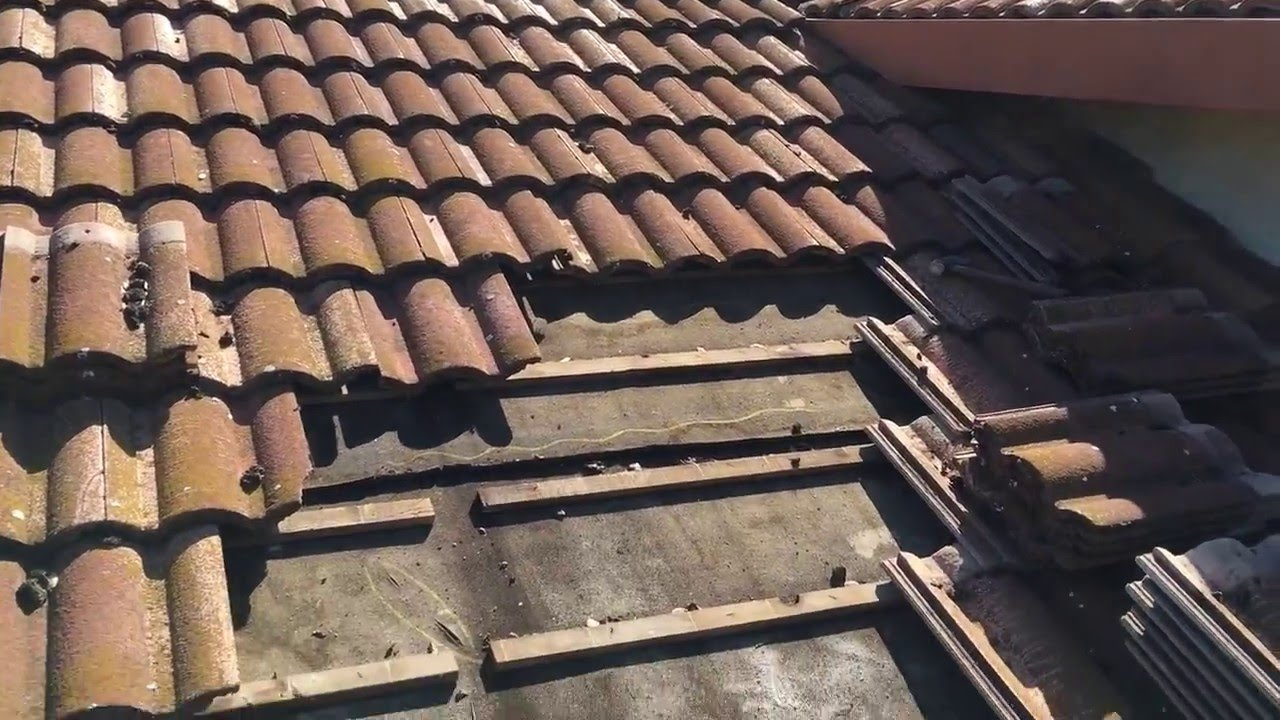Tile Roofs Leak When The Felt Sub Roof Fails Youtube