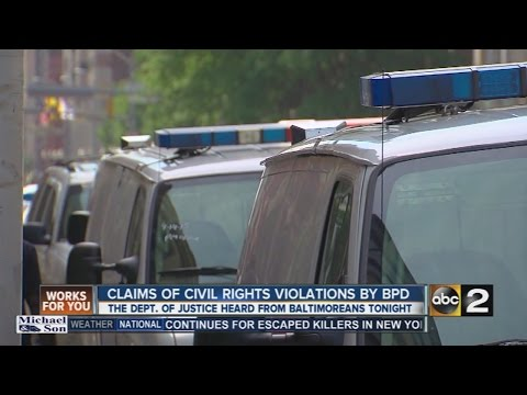 The Department of Justice investigates claims of civil rights violations