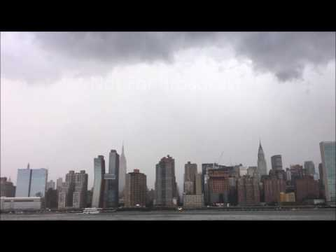 New York City - Storms rolling over NYC June 19 2017