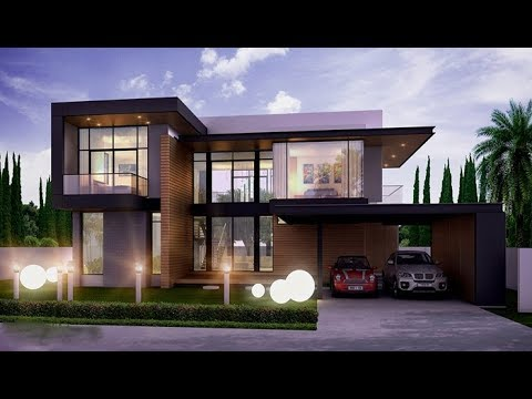 Cute Ultra Modern Contemporary Style House 1500 Sft