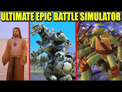 ROBOT-REX, WENDIGO, JESUS, DIABLO Y MÁS - ULTIMATE EPIC BATTLE SIMULATOR | Gameplay Español from YouTube · Duration:  27 minutes 59 seconds