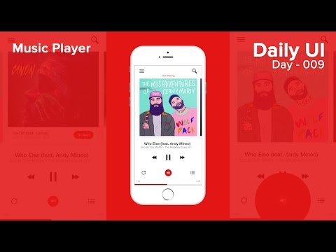 Daily UI  Day 009  Music Player Xd